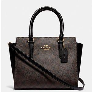 Leah Satchel In Signature Canvas coach handbag